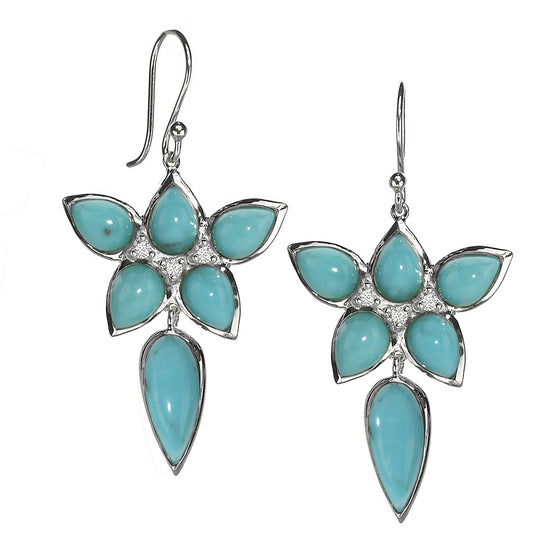 Mariposa Earrings in Kingman Mine Turquoise - Sterling Silver - Special Order