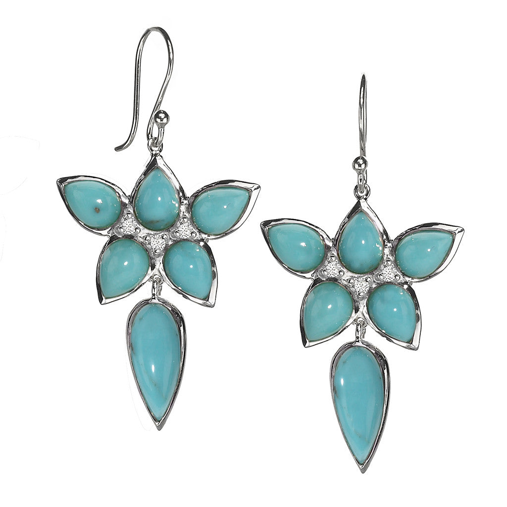 *SPECIAL ORDER* Mariposa Earrings in Kingman Mine Turquoise - Sterling Silver - USE CODE SPECIALORDER50 and only pay a 50% deposit of $242.50