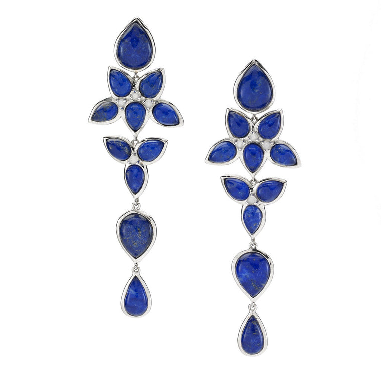 *SPECIAL ORDER* Mariposa Chandelier Earrings in Lapis - Sterling Silver - USE CODE SPECIALORDER50 and only pay a 50% deposit of $325