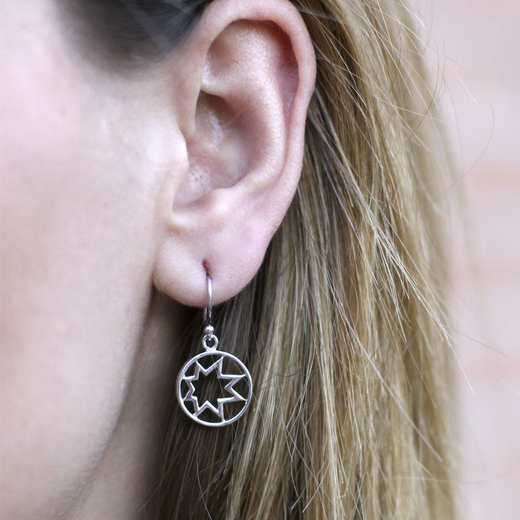 Hope Star Decoder Earrings in Sterling Silver - USE CODE HOORAY50 FOR AN EXTRA 50% OFF