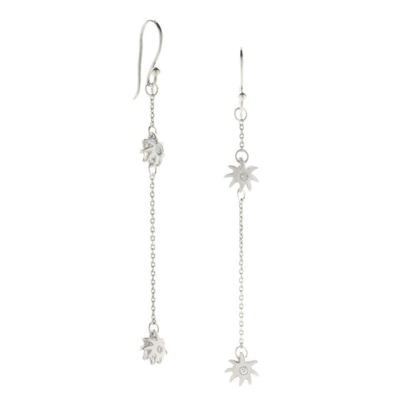 Double Wish Earrings - Sterling Silver & White Sapphires - PRICE IS $89 WHEN YOU USE CODE HOORAY50 FOR AN EXTRA 50% OFF