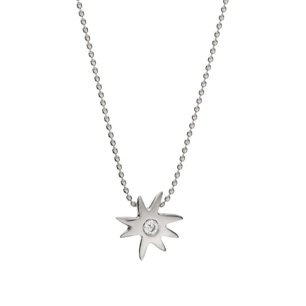 *SPECIAL ORDER* HopeStar & White Sapphire Necklace in Silver - USE CODE SPECIALORDER50 and only pay a 50% deposit of $57
