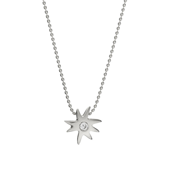 HopeStar & White Sapphire Necklace in Silver