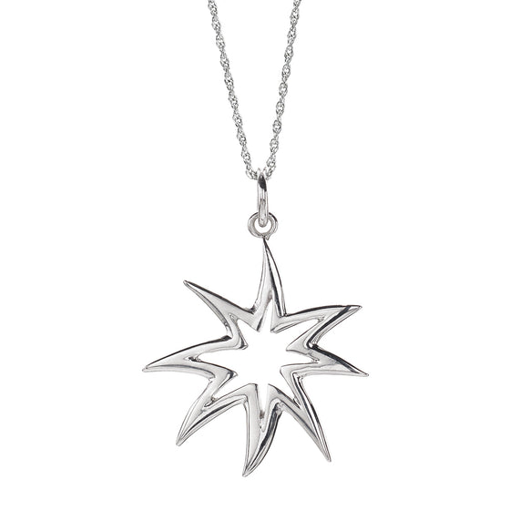 *SPECIAL ORDER* HopeStar Silhouette Necklace in Silver - USE CODE SPECIALORDER50 and only pay a 50% deposit of $62.50