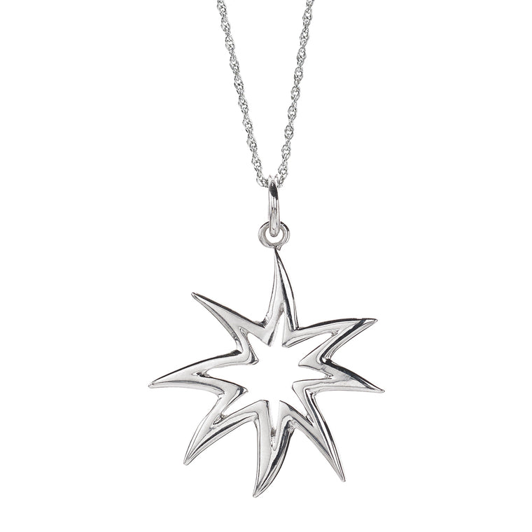 HopeStar Silhouette Necklace in Silver