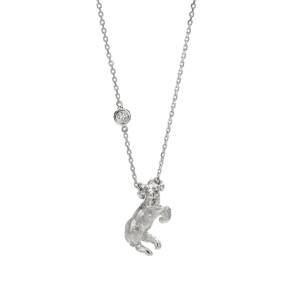 Aries Zodiac Necklace- Sterling Silver