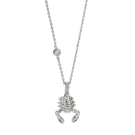 Scorpio Zodiac Necklace - Sterling Silver