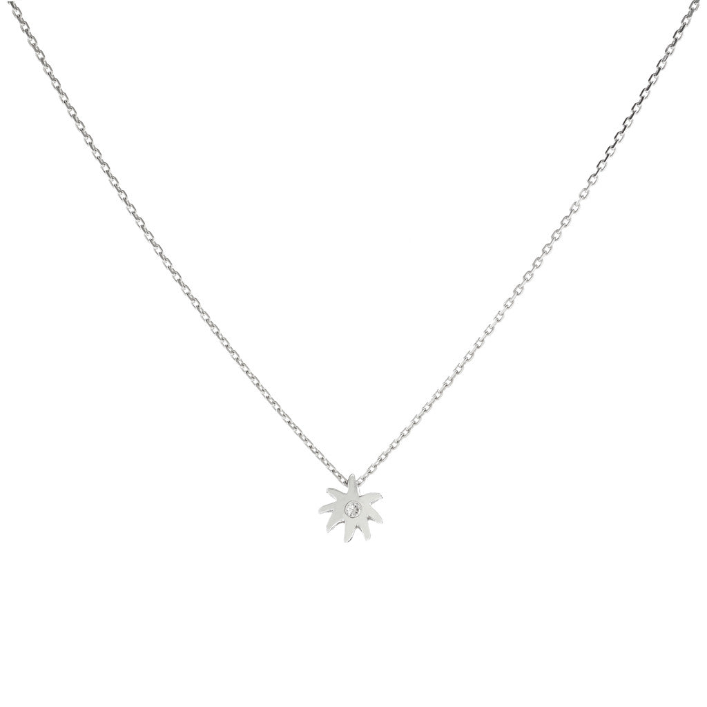 Single Wish Necklace - Sterling Silver & White Sapphire - PRICE IS $44 WHEN YOU USE CODE HOORAY50 FOR AN EXTRA 50% OFF