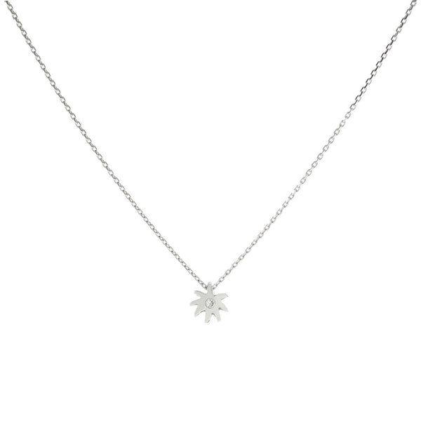 Single Wish Necklace - Sterling Silver & White Sapphire USE CODE SPRING30 FOR AN EXTRA 30% OFF