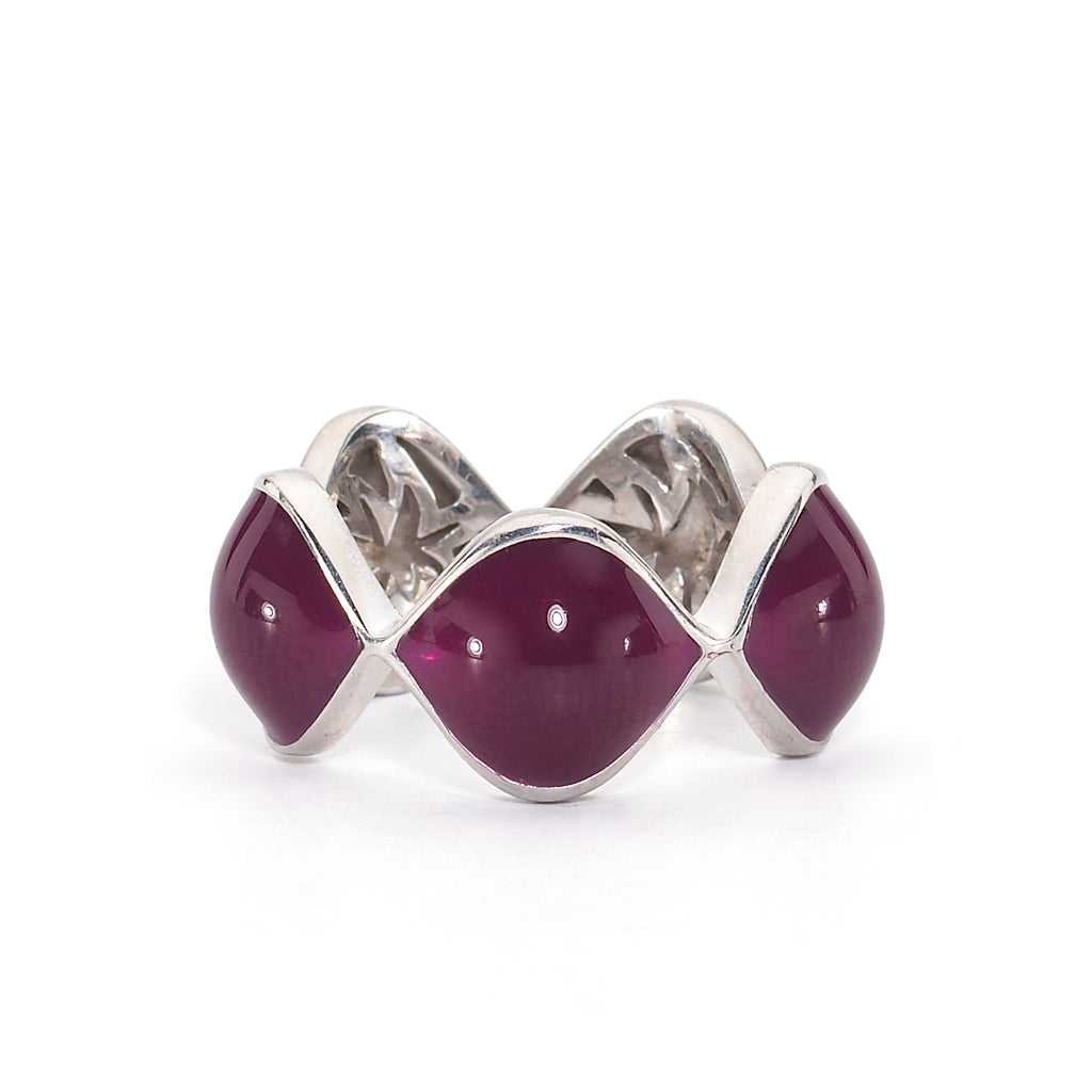 *HIDDEN GEM* Simone Ring in Berry Enamel & Silver - PRICE IS $46 WHEN USE CODE SUMMERFINAL50 FOR 50% OFF
