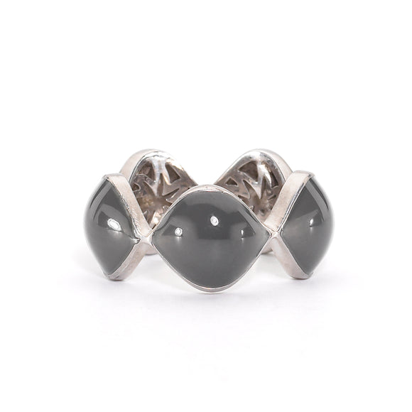 Simone Ring in Slate Grey Enamel & Silver with Hidden HopeStars