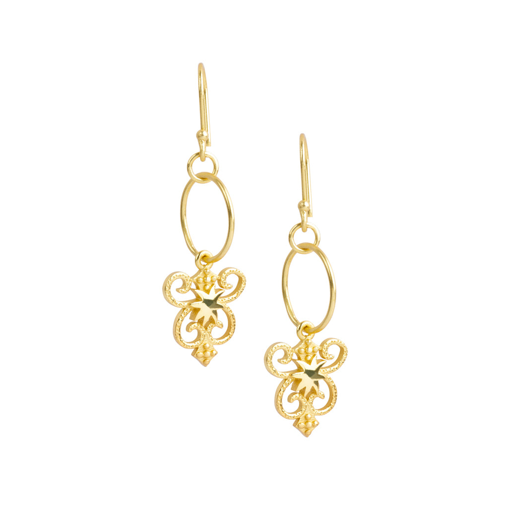 HopeStar Byzantine Shield Earring - USE CODE THEEND50 TO BUY FOR $27.50
