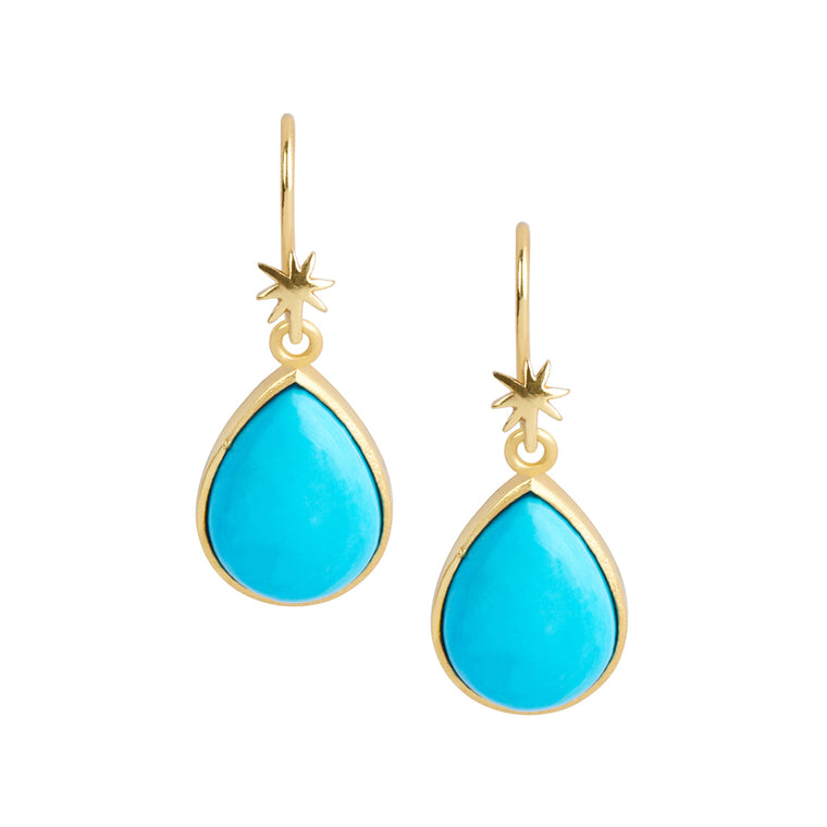 Teardrop Turquoise Howlite Earring on HopeStar Earwire