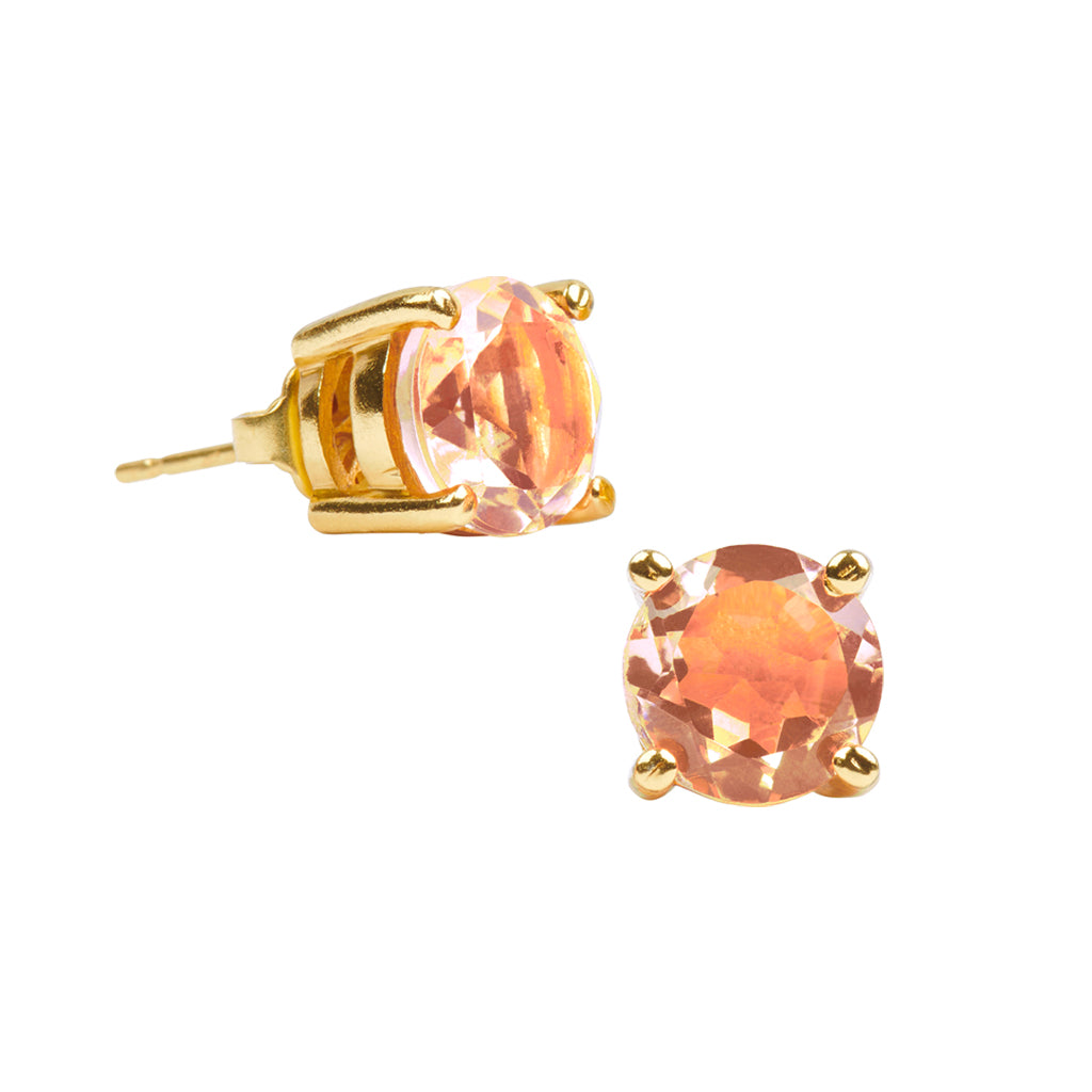 Dreamy-Dream Post Earrings in Peach