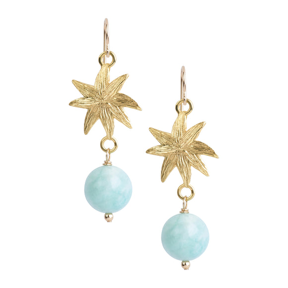 HopeStar Earrings in Amazonite