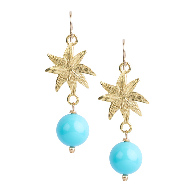 *HIDDEN GEM* HopeStar Earrings in Turquoise - PRICE IS $37 WHEN USE CODE SUMMERFINAL50 FOR 50% OFF