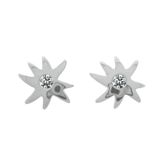 *SPECIAL ORDER* Petite HopeStar & White Sapphire Posts in Silver - USE CODE SPECIALORDER50 and only pay a 50% deposit of $59