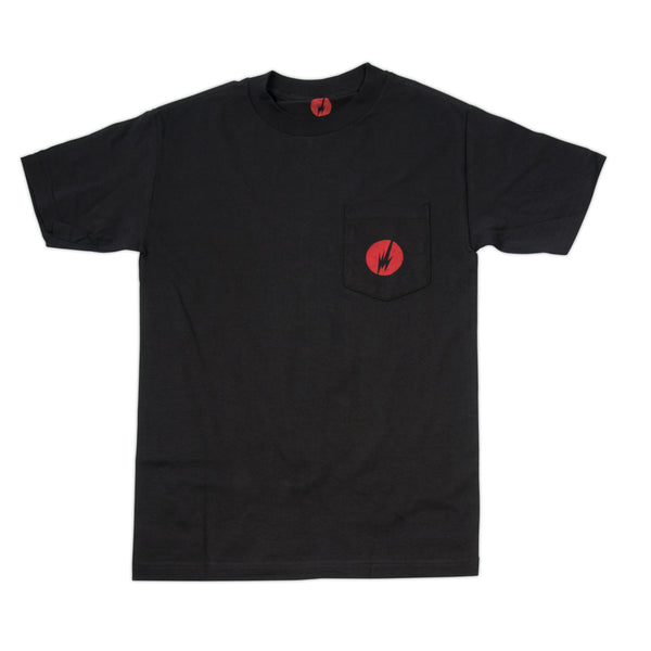 BRAINFEEDER - RED LOGO POCKET TEE