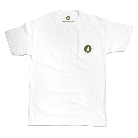 BRAINFEEDER - GREEN LOGO POCKET TEE
