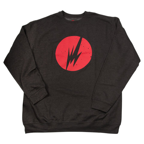 BRAINFEEDER - RED LOGO CREWNECK SWEATER