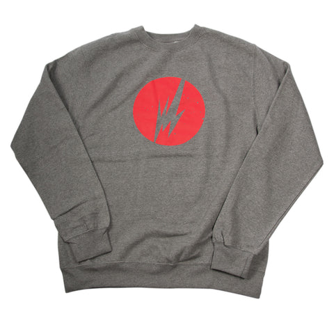 BRAINFEEDER - HTR GREY LOGO CREWNECK SWEATER