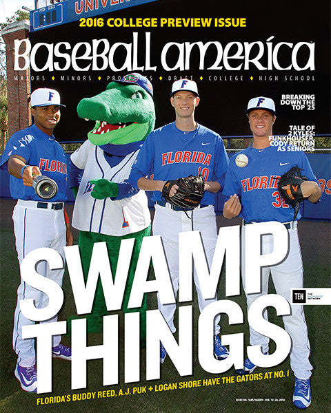 College Preview Issue Swamp Things Floridas Buddy Reed, AJ Puk, Logan Shore Have the Gators at No.1