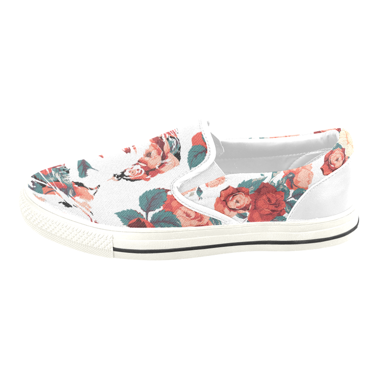 Frida Floral Print Canvas Ladies Slip On Low-Top Devious Elements Apparel shoes Frida Floral Print Canvas Ladies Slip On Low-Top Frida Floral Print Canvas Ladies Slip On Low-Top - Devious Elements Apparel