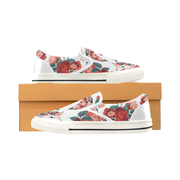 Frida Floral Print Canvas Ladies Slip On Low-Top - Devious Elements Apparel