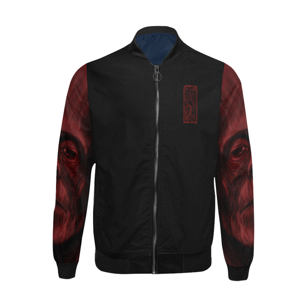 Frankenstein Red Water Bomber Windbreaker Jacket