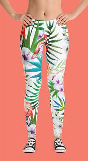 Flamingo Vibes Water Color Pattern Leggings - Devious Elements Apparel