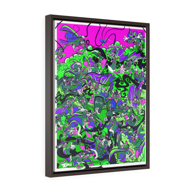 Retro Duck Battle Day Glow Framed Premium Gallery Wrap Canvas Devious Elements Apparel Canvas Retro Duck Battle Day Glow Framed Premium Gallery Wrap Canvas Retro Duck Battle Day Glow Framed Premium Gallery Wrap Canvas - Devious Elements Apparel