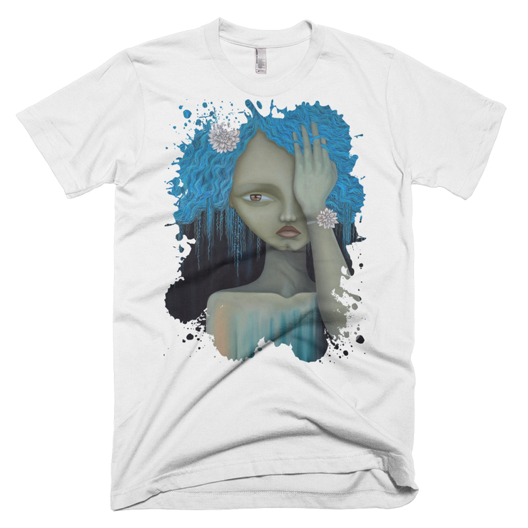 Blue Splatter Unisex Graphic Crew T-shirt - Devious Elements Apparel