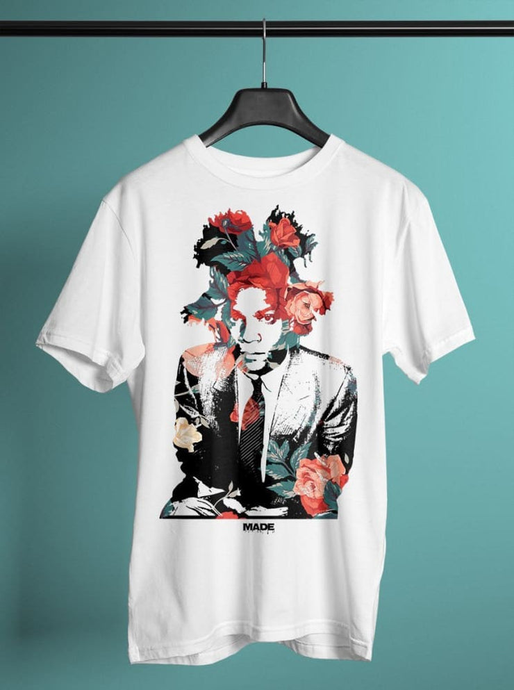 Basquiat Floral Unisex Crew T-shirt - Devious Elements Apparel