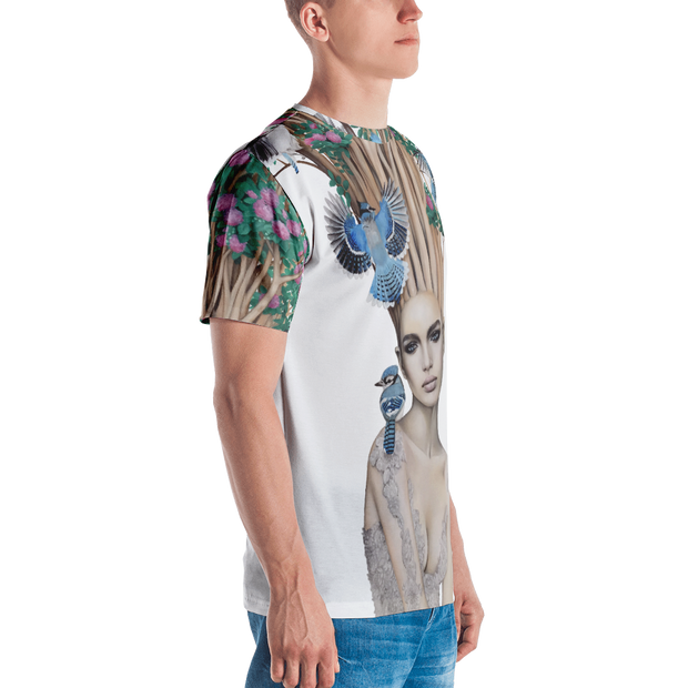 Bloom All-Over-Print Cut & Sew Crew T-shirt Julia Gabrielov Shirt Bloom All-Over-Print Cut & Sew Crew T-shirt Bloom All-Over-Print Cut & Sew Crew T-shirt - Devious Elements Apparel