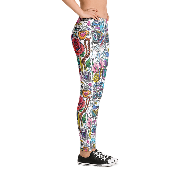 Funky Culture Pattern Print Leggings Carlos Solano Leggings Funky Culture Pattern Print Leggings Funky Culture Pattern Print Leggings - Devious Elements Apparel