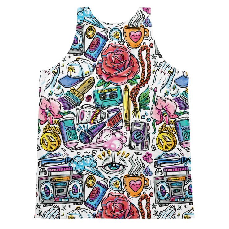 Funky Culture Pattern Print Cut-&-Sew Unisex Tank - Devious Elements Apparel