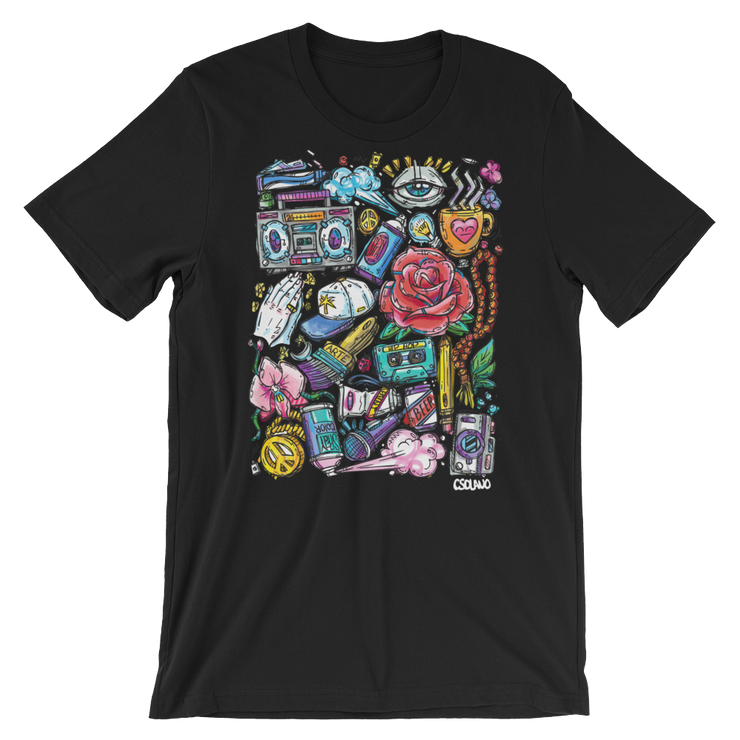 Culture Collage Unisex Crew T-Shirt - Devious Elements Apparel