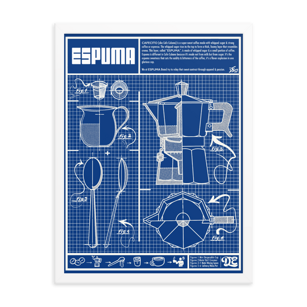 Cafecito Blueprint OG Premium Luster Photo Paper Framed Poster ESPUMA Framed Poster Cafecito Blueprint OG Premium Luster Photo Paper Framed Poster Cafecito Blueprint OG Premium Luster Photo Paper Framed Poster - Devious Elements Apparel
