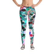 Confetti Texture Print Leggings - Devious Elements Apparel
