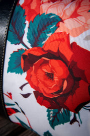 Frida Floral Rose Canvas Waterproof Large Travel Bag Devious Elements Apparel Large Travel Bag Frida Floral Rose Canvas Waterproof Large Travel Bag Frida Floral Rose Canvas Waterproof Large Travel Bag - Devious Elements Apparel
