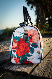Dali Floral Rose Canvas Waterproof Large Travel Bag Devious Elements Apparel Large Travel Bag Dali Floral Rose Canvas Waterproof Large Travel Bag Dali Floral Rose Canvas Waterproof Large Travel Bag - Devious Elements Apparel