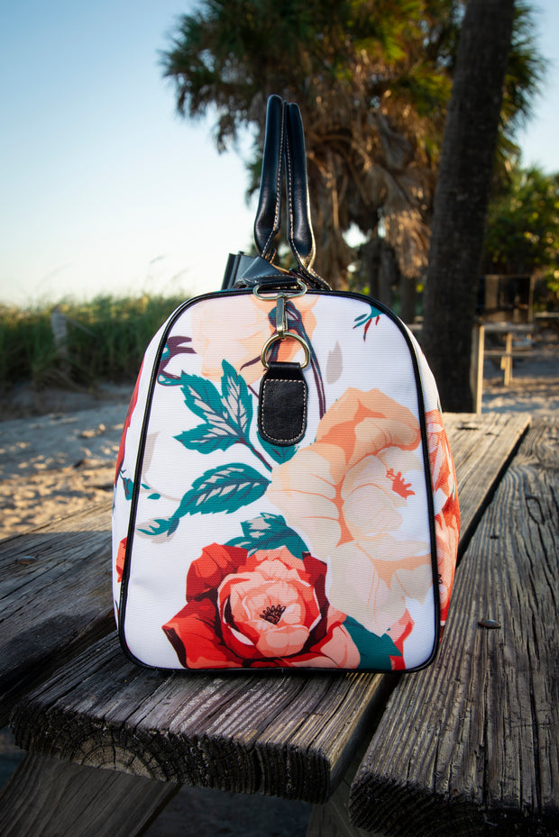 Dali Frida Floral Rose Canvas Waterproof Large Travel Bag Devious Elements Apparel Large Travel Bag Dali Frida Floral Rose Canvas Waterproof Large Travel Bag Dali Frida Floral Rose Canvas Waterproof Large Travel Bag - Devious Elements Apparel