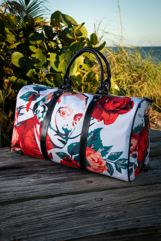 Dali Floral Rose Canvas Waterproof Large Travel Bag