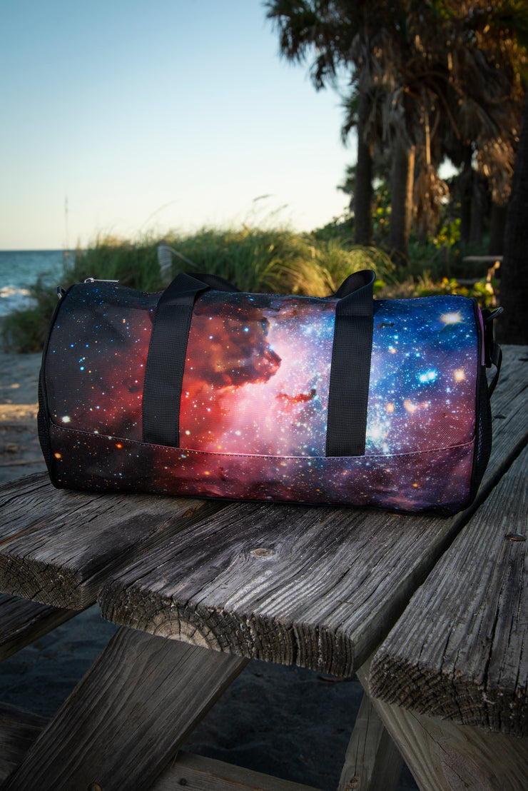 Space Nebula Medium Canvas Duffle Bag Devious Elements Apparel Duffle Bag Space Nebula Medium Canvas Duffle Bag Space Nebula Medium Canvas Duffle Bag - Devious Elements Apparel