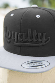 Loyalty Throwback Black on Black Snapback Hat - Devious Elements Apparel