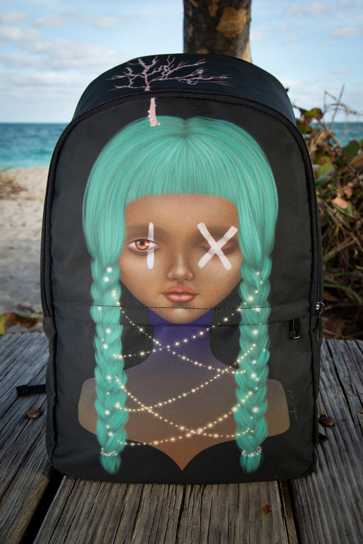 Nine Print Laptop Backpack Lisa Diakova Back Pack Nine Print Laptop Backpack Nine Print Laptop Backpack - Devious Elements Apparel