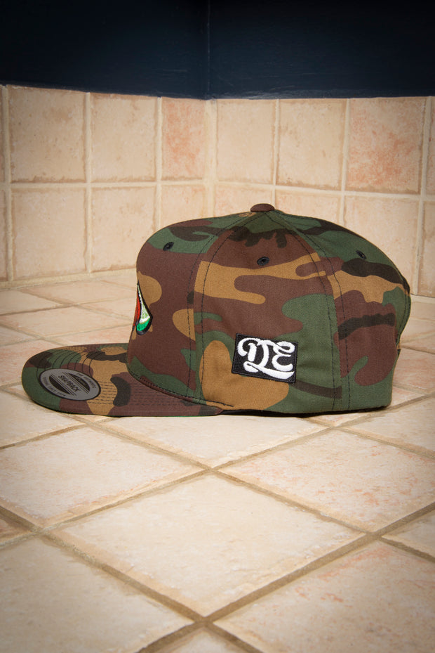 Croquetas & Lime High Profile Camo Snapback Hat