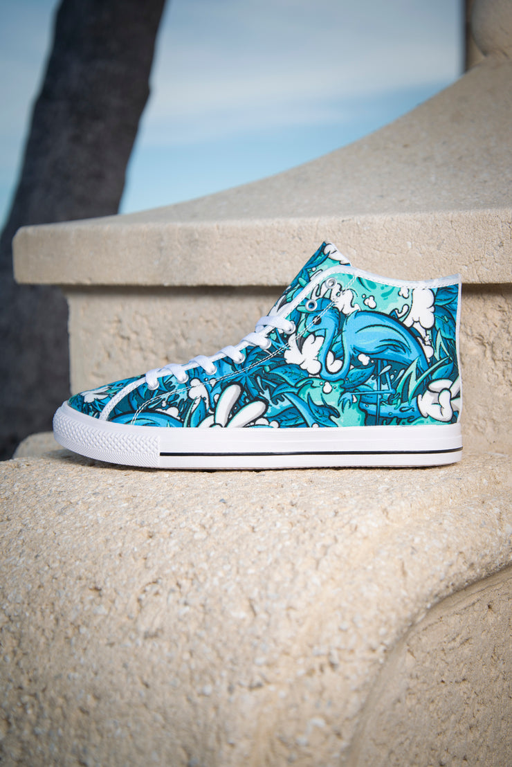Tropicana Print Men's Canvas High Top Sneaker Enox Art shoes Tropicana Print Men's Canvas High Top Sneaker Tropicana Print Men's Canvas High Top Sneaker - Devious Elements Apparel