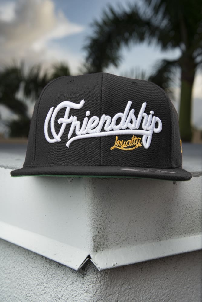 Loyalty Friendship Black Snapback Hat - Devious Elements Apparel