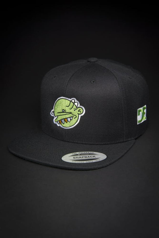 Green Goop Head High Profile Snapback Goopmassta hat Green Goop Head High Profile Snapback Green Goop Head High Profile Snapback - Devious Elements Apparel